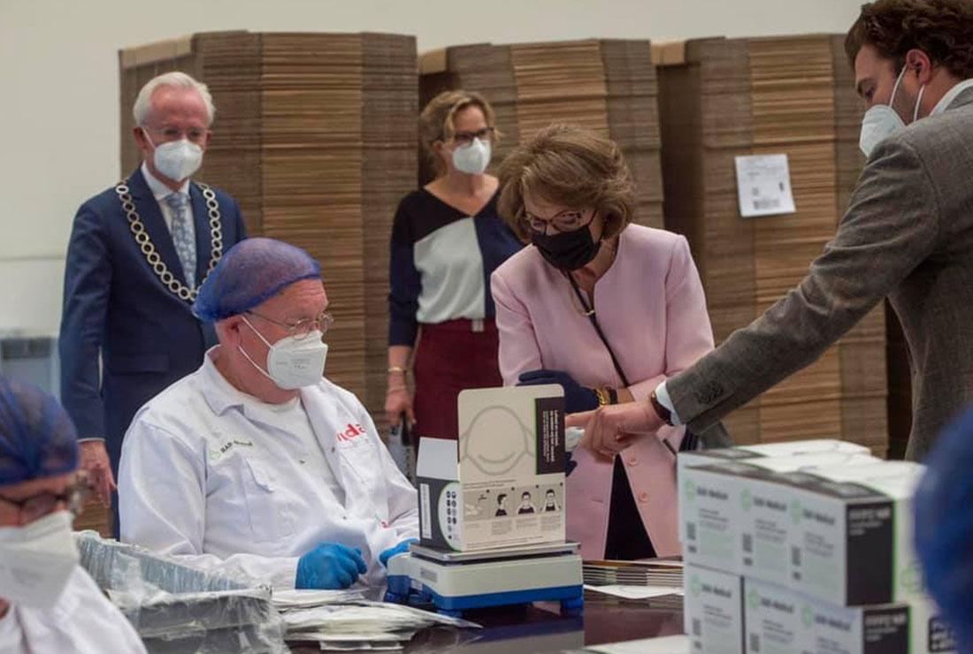 Prinses Margriet bezoekt Vidar en BAB-Medical